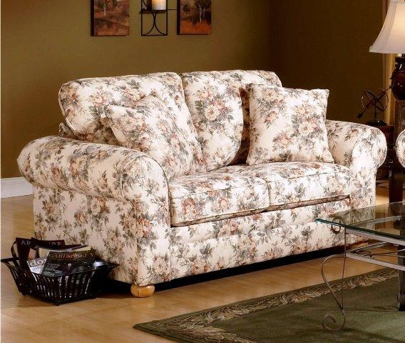 12 Floral Pattern Sofa Designs Rilane nicely intended for Floral Sofas And Chairs (Image 3 of 20)