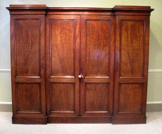 14 Best Wardrobes Linen Presses Images On Pinterest clearly inside Mahogany Breakfront Wardrobe (Image 14 of 20)