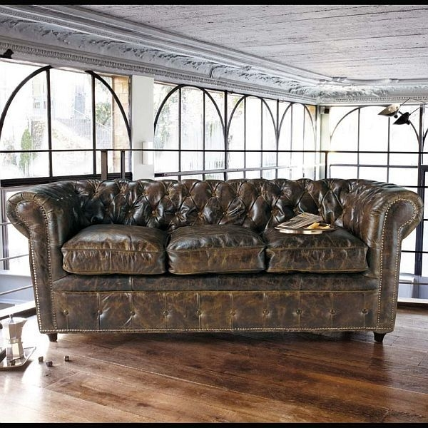 145 Best Leather Sofa Images On Pinterest clearly throughout Vintage Leather Sectional Sofas (Image 1 of 20)