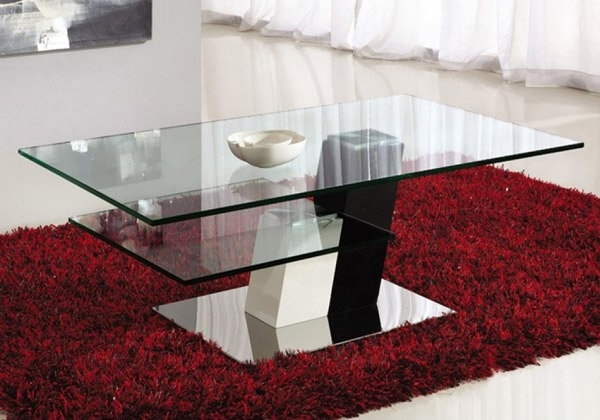 15 Stylish Rectangular Glass Top Coffee Tables Home Design Lover very well inside Unique Twister Glass Coffee Table (Image 22 of 30)