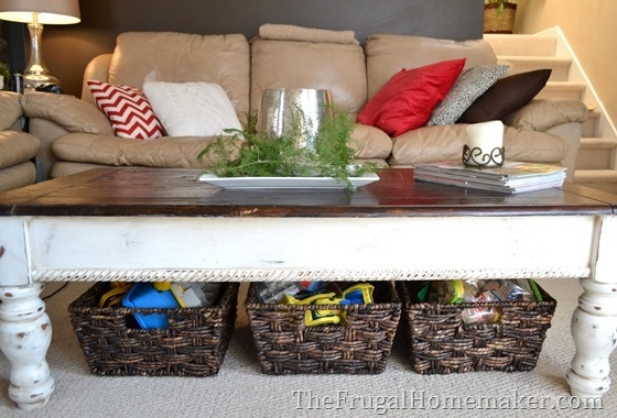 15 Ways To Use Open Storage To Organize Your Home definitely pertaining to Coffee Table With Wicker Basket Storage (Image 2 of 20)