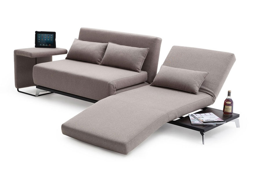 16 Functional Small Sofa Beds Solutions For Small Spaces effectively with regard to Sofa Lounger Beds (Image 2 of 20)
