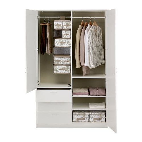 Featured Photo of 3 Door Wardrobe With Drawers And Shelves