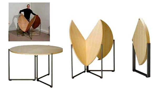 17 Furniture For Small Spaces Folding Dining Tables Chairs properly inside Fold Up Sofa Chairs (Image 2 of 20)