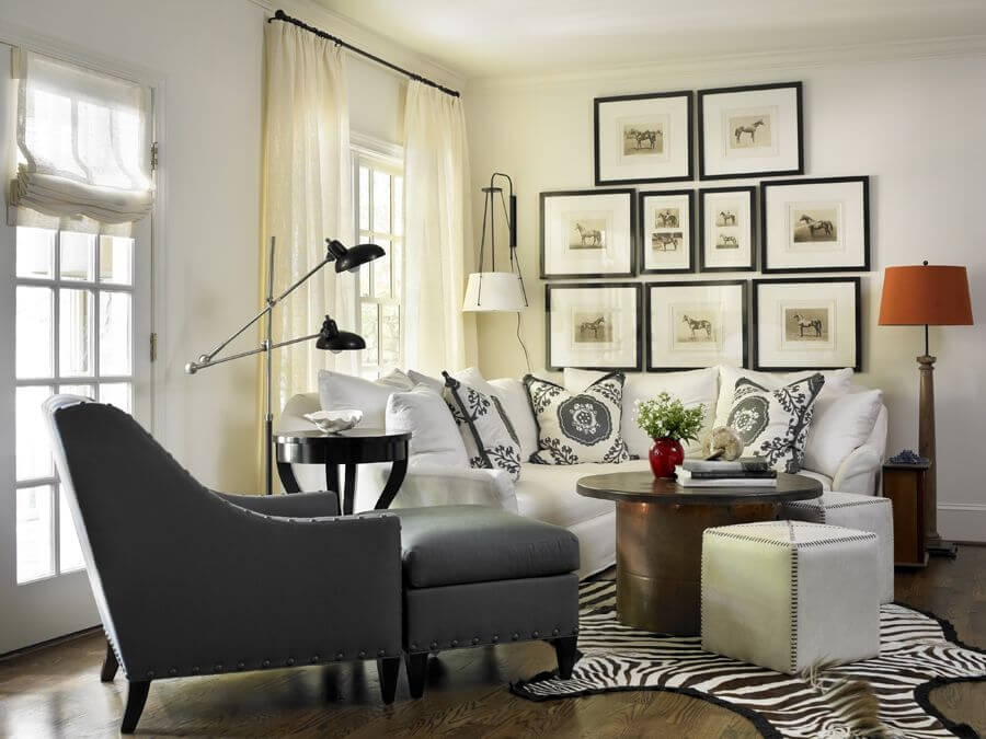 17 Zebra Living Room Decor Ideas Pictures effectively intended for Grey Sofa Chairs (Image 1 of 20)