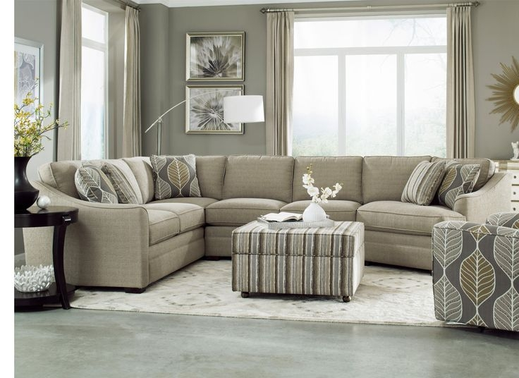 18 Best Luxe Leather Images On Pinterest perfectly inside Craftmaster Sectional Sofa (Image 1 of 20)