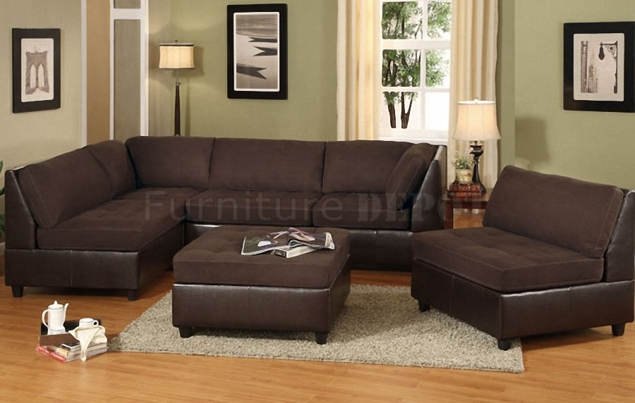 18 Chocolate Brown Sectional Sofa Carehouse Effectively Within Image 1 Of