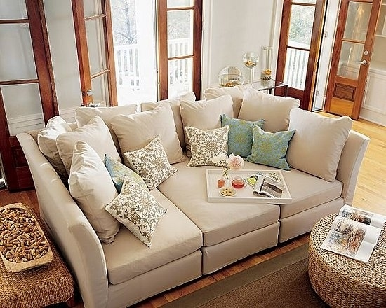 19 Couches That Ensure Youll Never Leave Your Home Again Big most certainly regarding Deep Cushion Sofa (Image 2 of 20)