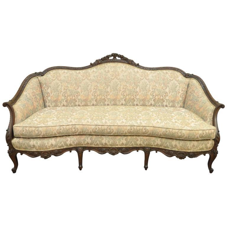 1930s French Louis Xv Hollywood Regency Style Finely Carved Clearly In 1930s Couch (View 7 of 20)