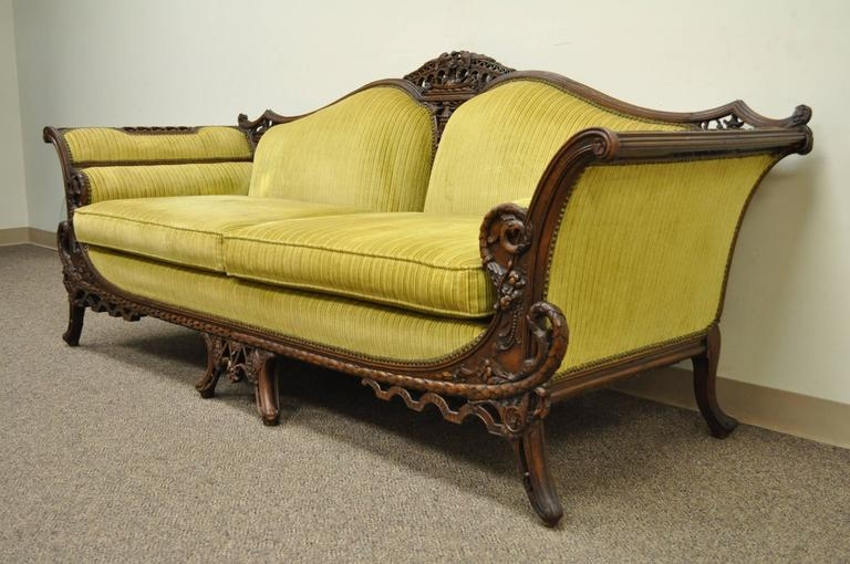 1930s Mahogany Chinese Chippendale Transitional Swan And Serpent Well Within 1930s Couch (View 2 of 20)