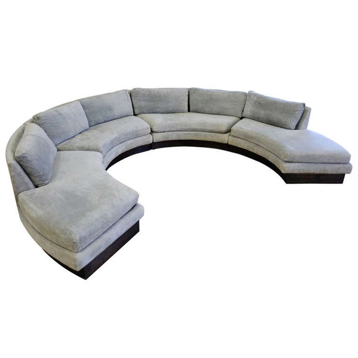 197 Best Curved Sectional Sofa Images On Pinterest Nicely Inside Circle Sectional Sofa (View 1 of 20)