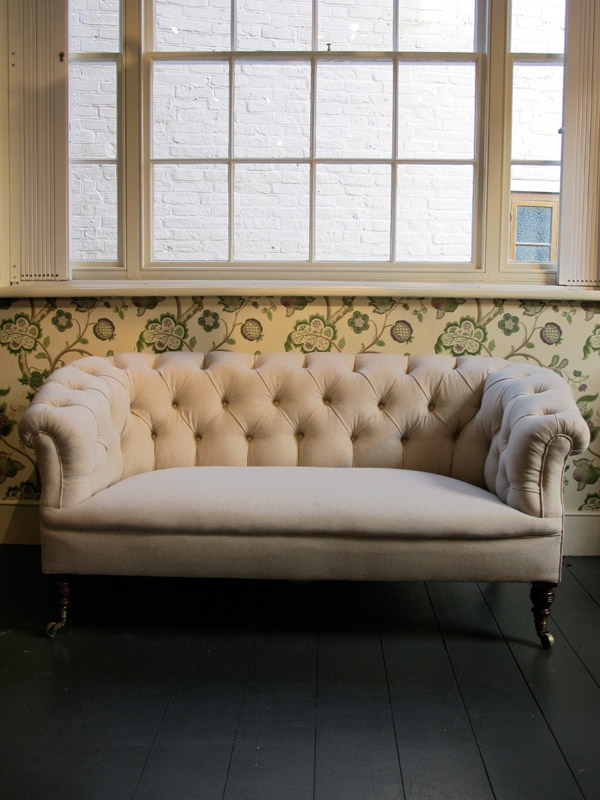 19th Cent English Howard Sons Chesterfield Sofas Armchairs clearly with regard to Small Chesterfield Sofas (Image 3 of 20)