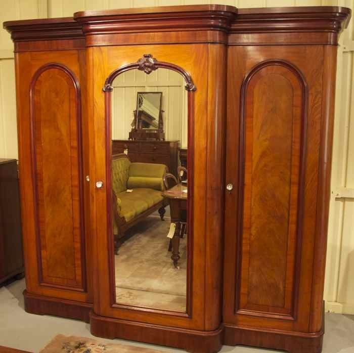 19th Century Cedar Breakfront Wardrobe The Merchant Of Wel definitely with Antique Breakfront Wardrobe (Image 1 of 30)