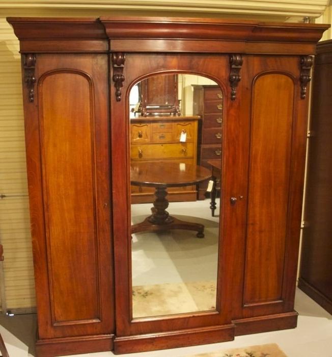 19th Century Cedar Breakfront Wardrobe The Merchant Of Wel good inside Breakfront Wardrobe (Image 24 of 30)