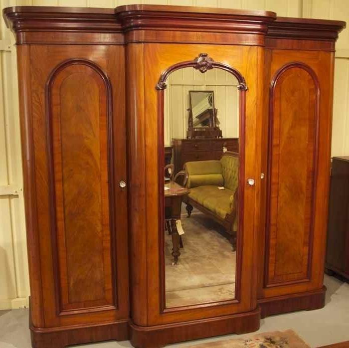 19th Century Cedar Breakfront Wardrobe The Merchant Of Wel perfectly regarding Breakfront Wardrobe (Image 23 of 30)