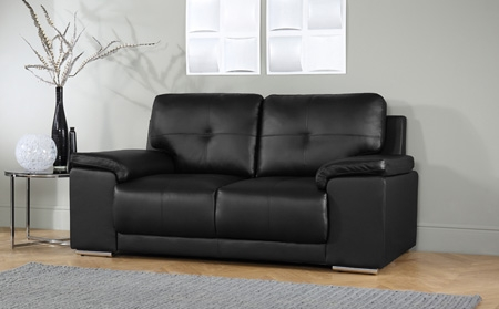 2 Seater Leather Sofas Furniture Choice certainly for Black 2 Seater Sofas (Image 2 of 20)