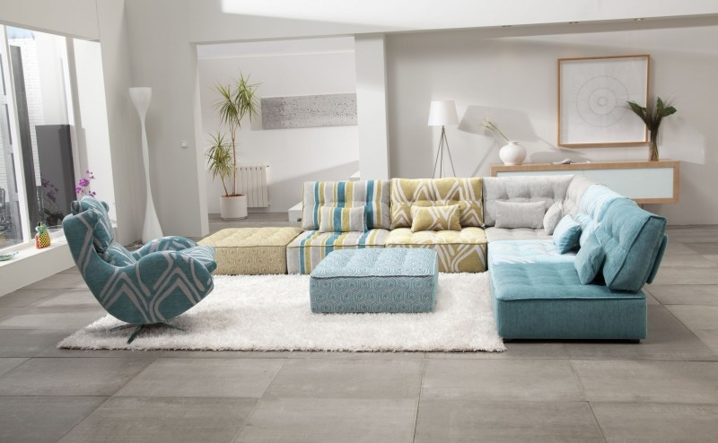 20 Awesome Modular Sectional Sofa Designs good in Colorful Sectional Sofas (Image 1 of 20)