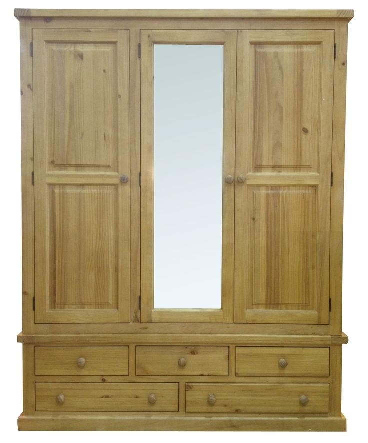 20 Best Country Pine Bedroom Images On Pinterest effectively within Pine Wardrobe With Drawers and Shelves (Image 3 of 30)