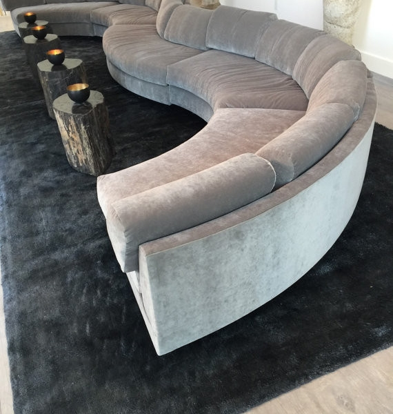 20 Foot Long Grey Modern Velvet Circle Sectional Sofa Bob Trendy Most Certainly In Circle Sectional Sofa (View 2 of 20)