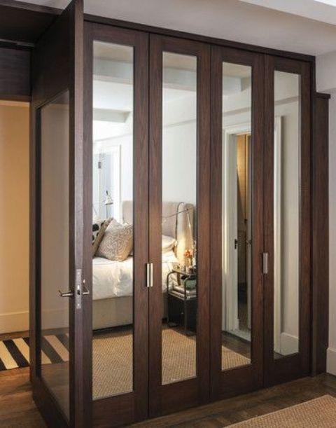 20 ideas of dark wood wardrobe doors. Black Bedroom Furniture Sets. Home Design Ideas