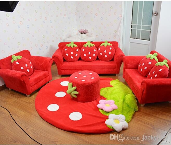 2017 Coral Velvet Children Sofa Chairs Cushion Furniture Set Cute effectively for Children Sofa Chairs (Image 2 of 20)