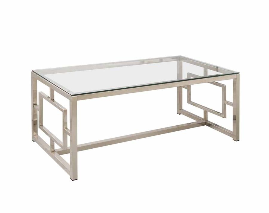 20t Century Modern Gold Metal And Glass Coffee Table At 1stdibs properly inside Metal and Glass Coffee Tables (Image 2 of 20)