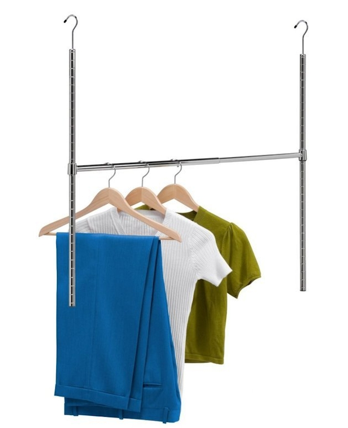 21 Brilliant Hacks For Your Tiny Wardrobe Expert Home Tips certainly inside Wardrobe Double Hanging Rail (Image 7 of 20)