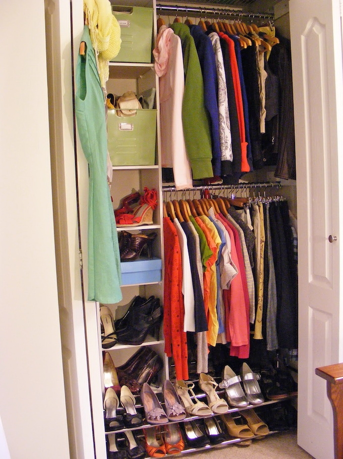 21 Brilliant Hacks For Your Tiny Wardrobe Expert Home Tips properly inside Double Hanging Rail for Wardrobe (Image 8 of 30)