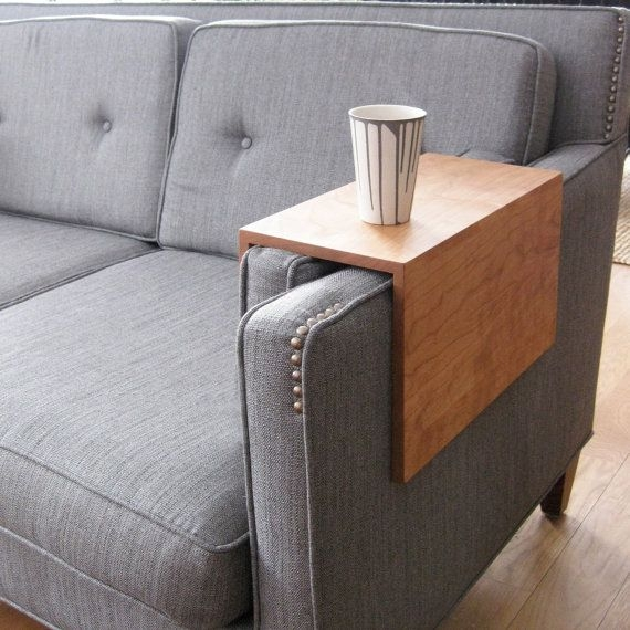 22 Best Couch Arm Wrap Tray Table Images On Pinterest perfectly throughout Sofa Drink Tables (Image 1 of 20)