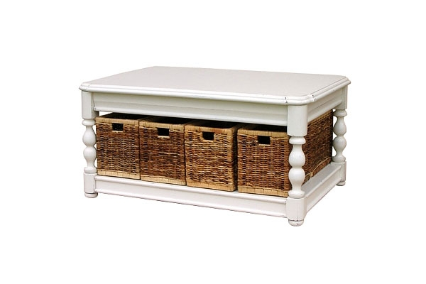 22 Well Designed Coffee Tables With Basket For Storage Home Nicely In Coffee Table With Wicker Basket Storage (View 3 of 20)