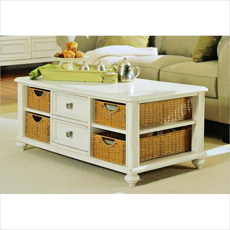 241 Best Apple Pie La Mode Country Home Images On Pinterest clearly pertaining to Coffee Table With Wicker Basket Storage (Image 6 of 20)