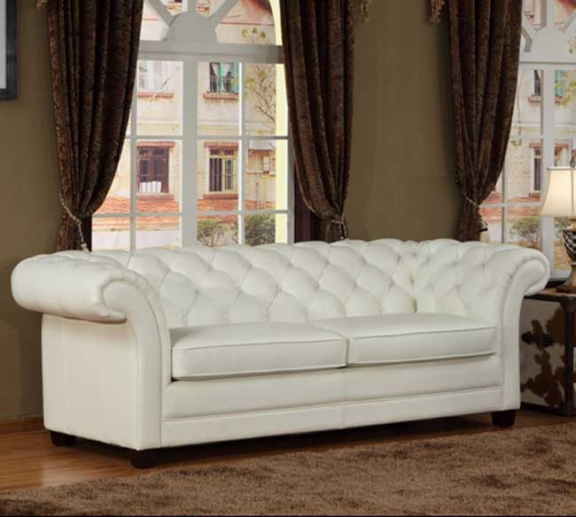 Everett Tufted Leather Settee In 2019: 2019 Latest Tufted Leather Chesterfield Sofas