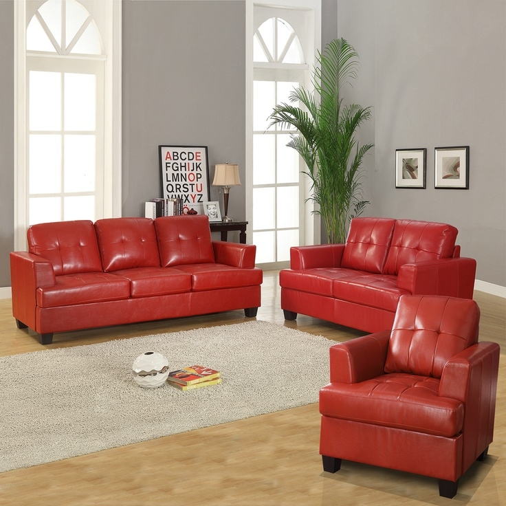 25 Best Red Leather Couches Ideas On Pinterest Red Leather properly for Red Sofas And Chairs (Image 2 of 20)