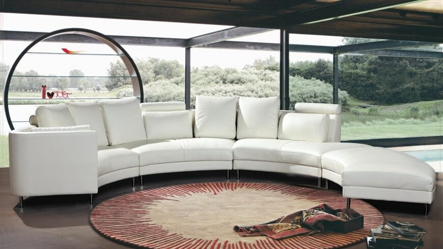 25 Contemporary Curved And Round Sectional Sofas Certainly Pertaining To Circle Sectional Sofa (View 4 of 20)