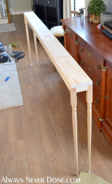 25 Sofa Table Tutorial perfectly regarding Narrow Sofa Tables (Image 1 of 20)