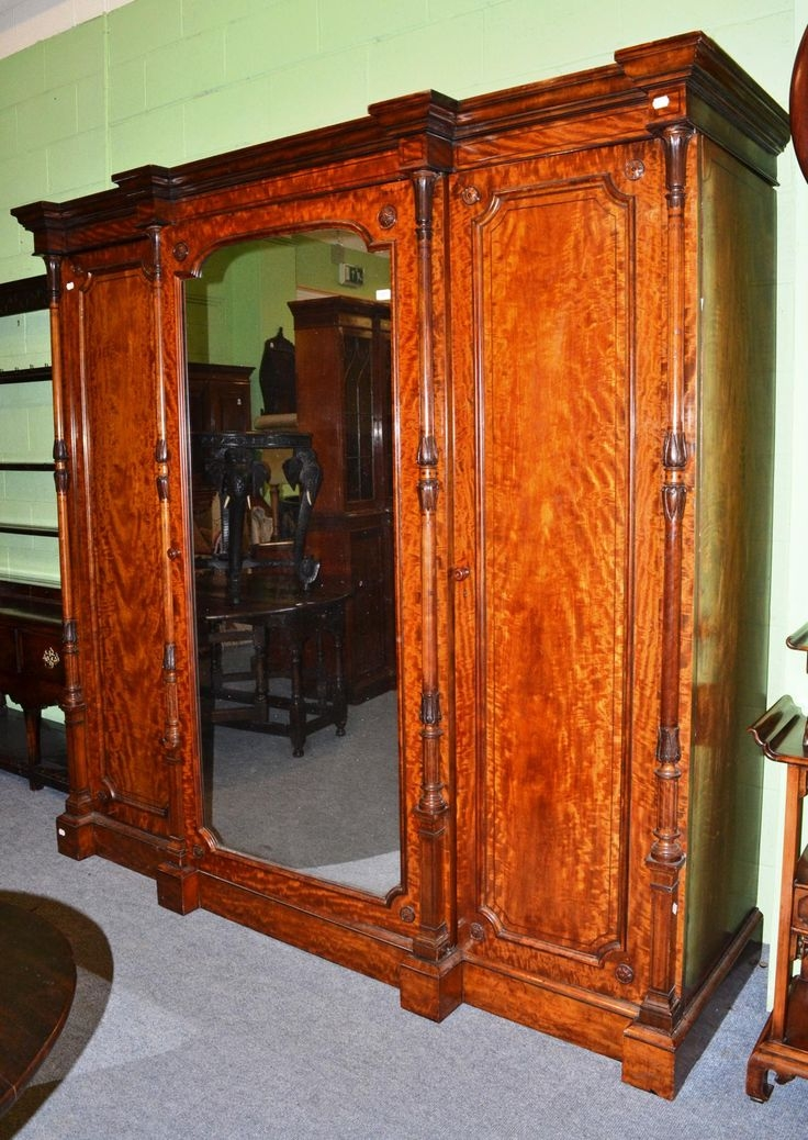 2585 Best Antique Furniture Images On Pinterest properly intended for Antique Breakfront Wardrobe (Image 27 of 30)