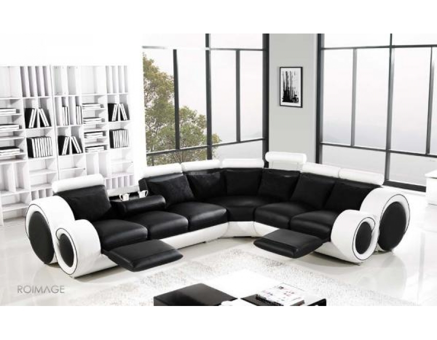 28 Leather Corner Sofas Auto Auctions nicely inside Large Black Leather Corner Sofas (Image 1 of 20)