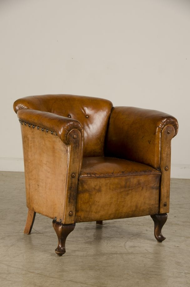290 Best Vintage Leather Images On Pinterest very well inside Vintage Leather Armchairs (Image 1 of 20)