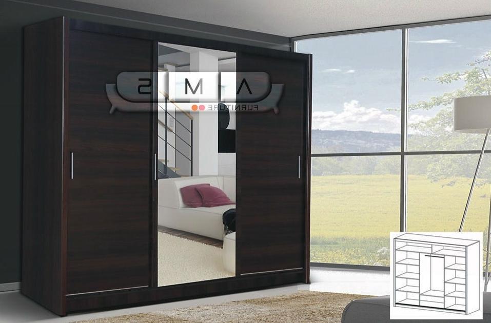 3 Door Sliding Wardrobe With Mirror Saudireiki effectively with 3 Door Wardrobe With Drawers And Shelves (Image 29 of 30)