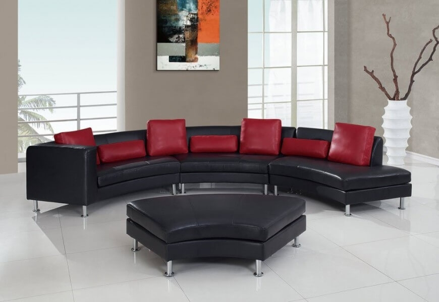 3 Piece Curved Sectional Sofa Roselawnlutheran properly pertaining to Backless Sectional Sofa (Image 2 of 20)