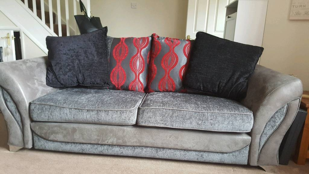 3 Seater Sofa And Audio Seater Cuddle Chair In Worcester clearly with 3 Seater Sofa And Cuddle Chairs (Image 2 of 20)