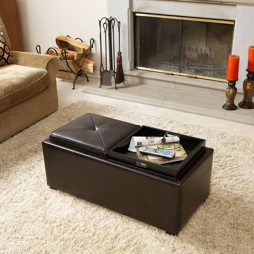 30 Best Coffee Tables Images On Pinterest definitely for Brown Leather Ottoman Coffee Tables With Storages (Image 1 of 20)