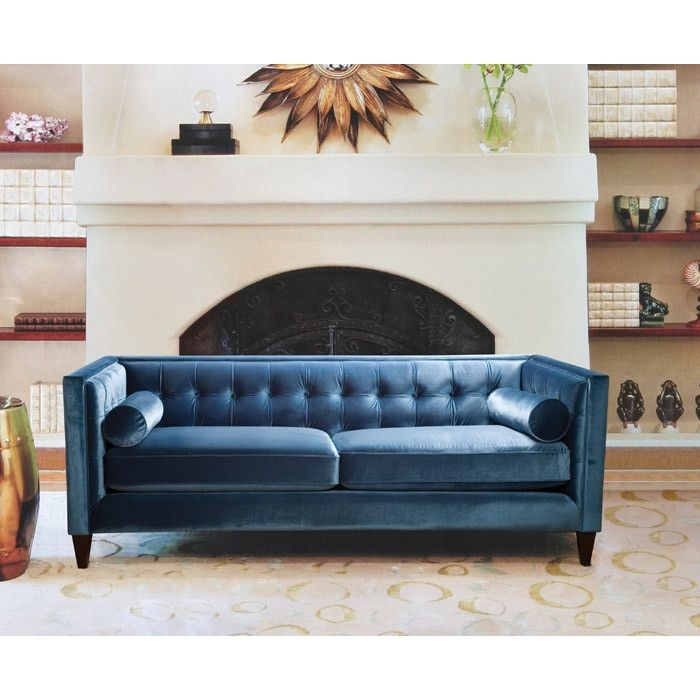 30 Best Tufted Velvet Sofas Images On Pinterest perfectly in Blue Tufted Sofas (Image 1 of 20)