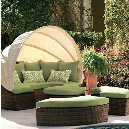 33 Best Home Outdoor Furniture Images On Pinterest good pertaining to Outdoor Sofas With Canopy (Image 1 of 20)