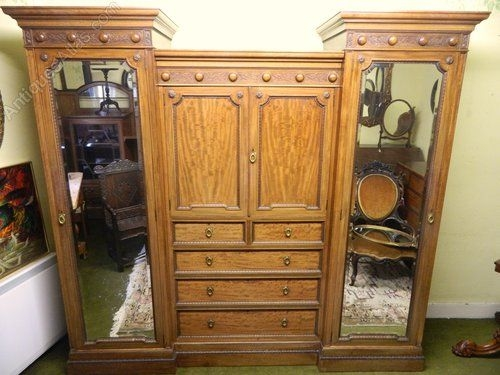 34 Best Antique Wardrobes And Linen Presses Images On Pinterest perfectly for Mahogany Breakfront Wardrobe (Image 15 of 20)