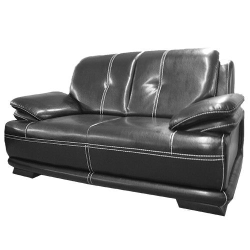 34 Best Black Sofa Images On Pinterest most certainly in Black 2 Seater Sofas (Image 7 of 20)