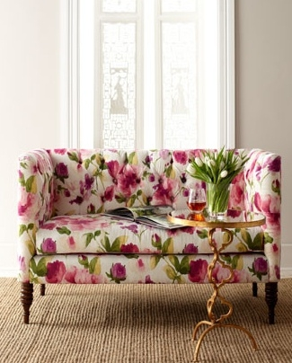 36 Best Floral Furniture Images On Pinterest Properly Intended For Floral Sofas And Chairs (Photo 2 of 20)