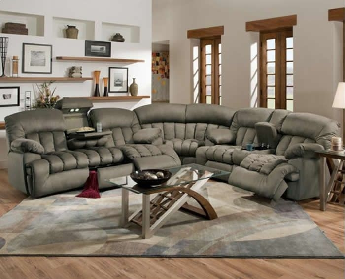 37 Best Sectional Images On Pinterest Well Pertaining To Sectional Sofa Recliners (Photo 12 of 20)