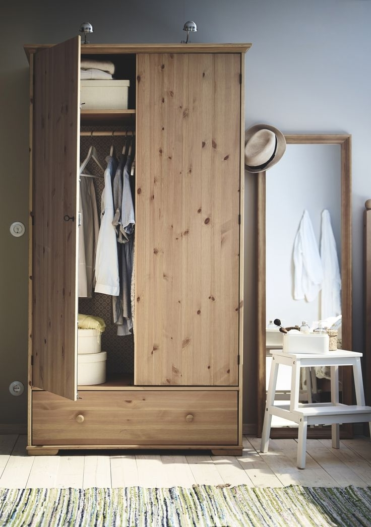414 Best Bedrooms Images On Pinterest perfectly with regard to Dark Wood Wardrobes Ikea (Image 5 of 30)