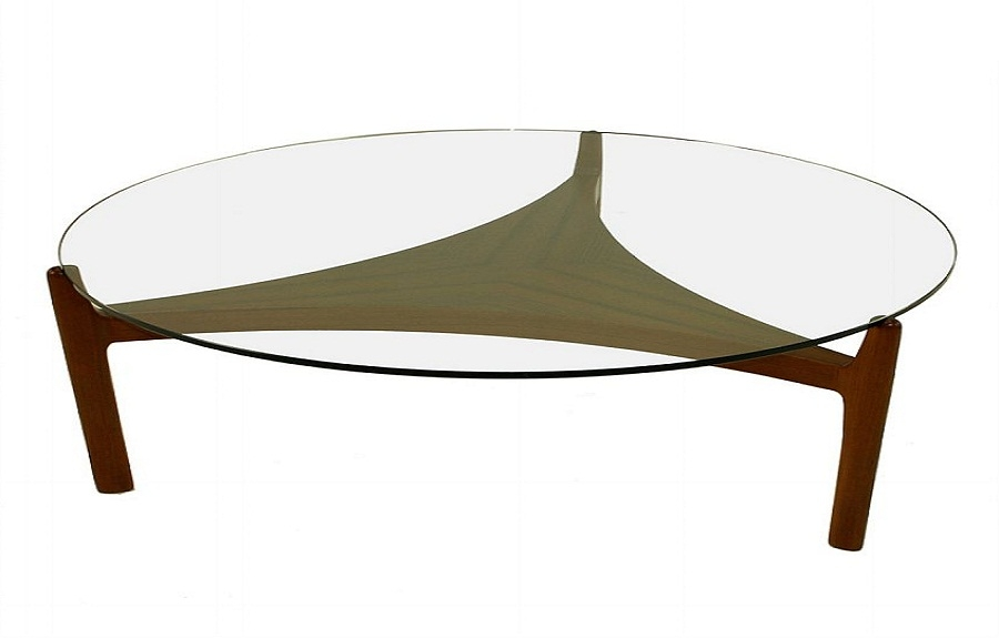 42 Modern Design Round Coffee Table Tempered Glass Top Brushed most certainly throughout Round Glass And Wood Coffee Tables (Image 2 of 20)